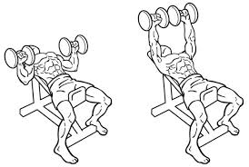 Dumbbell incline press